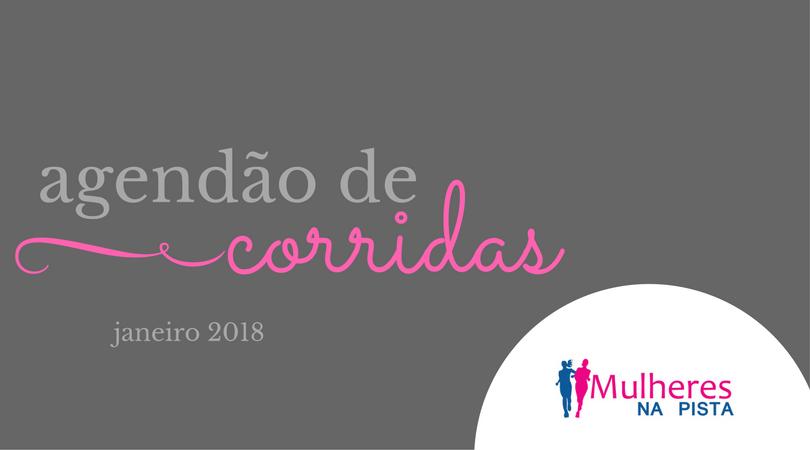 Agendão de Corridas em Santa Catarina - Janeiro 2018