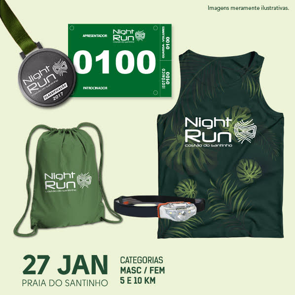 night run costão do santinho 2018, night run 2018
