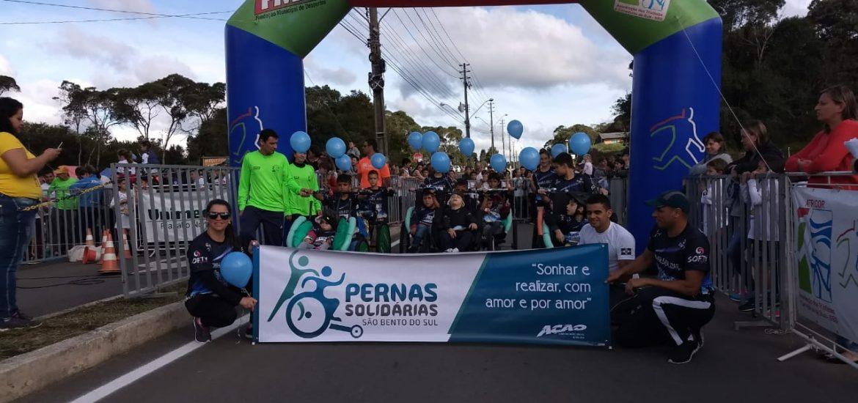 calendário de corridas , estreia do Pernas Solidárias Kids