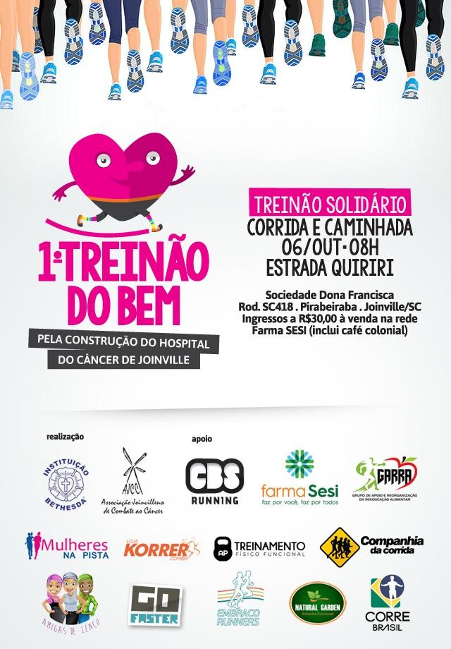 Solidariedade: 1º Treinão do Bem ainda tem ingressos à venda