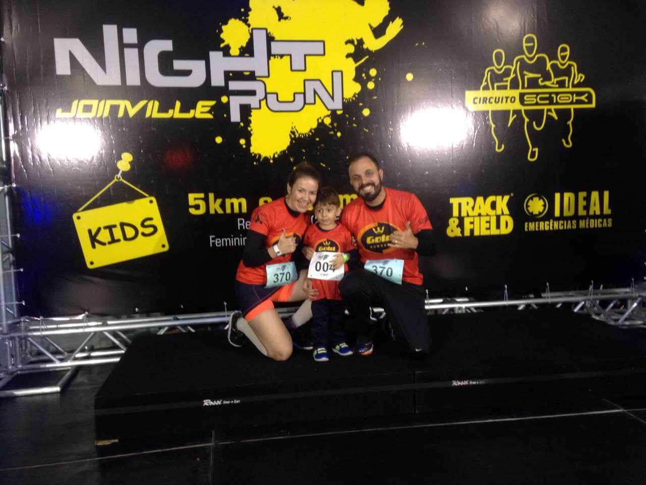 Night Run Joinville, Corrida Kids e o orgulho dos papais