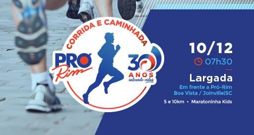 Corrida e Caminhada da Pró-Rim, em Joinville, está com inscrições abertas