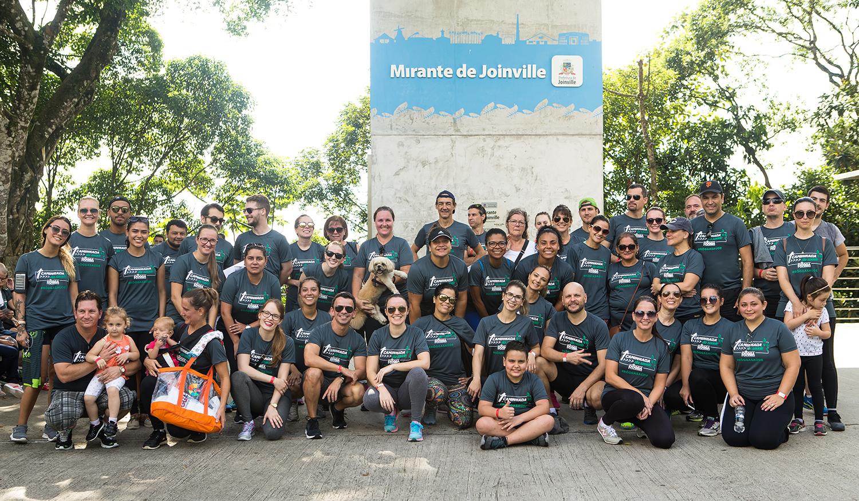 Foto: como foi a 1ª Caminhada da Saúde Rôgga, em Joinville