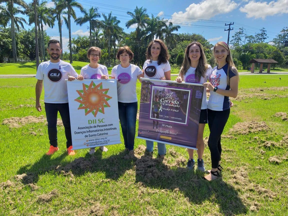Corrida de rua promove o Dia Mundial da Doença Inflamatória Intestinal em Joinville