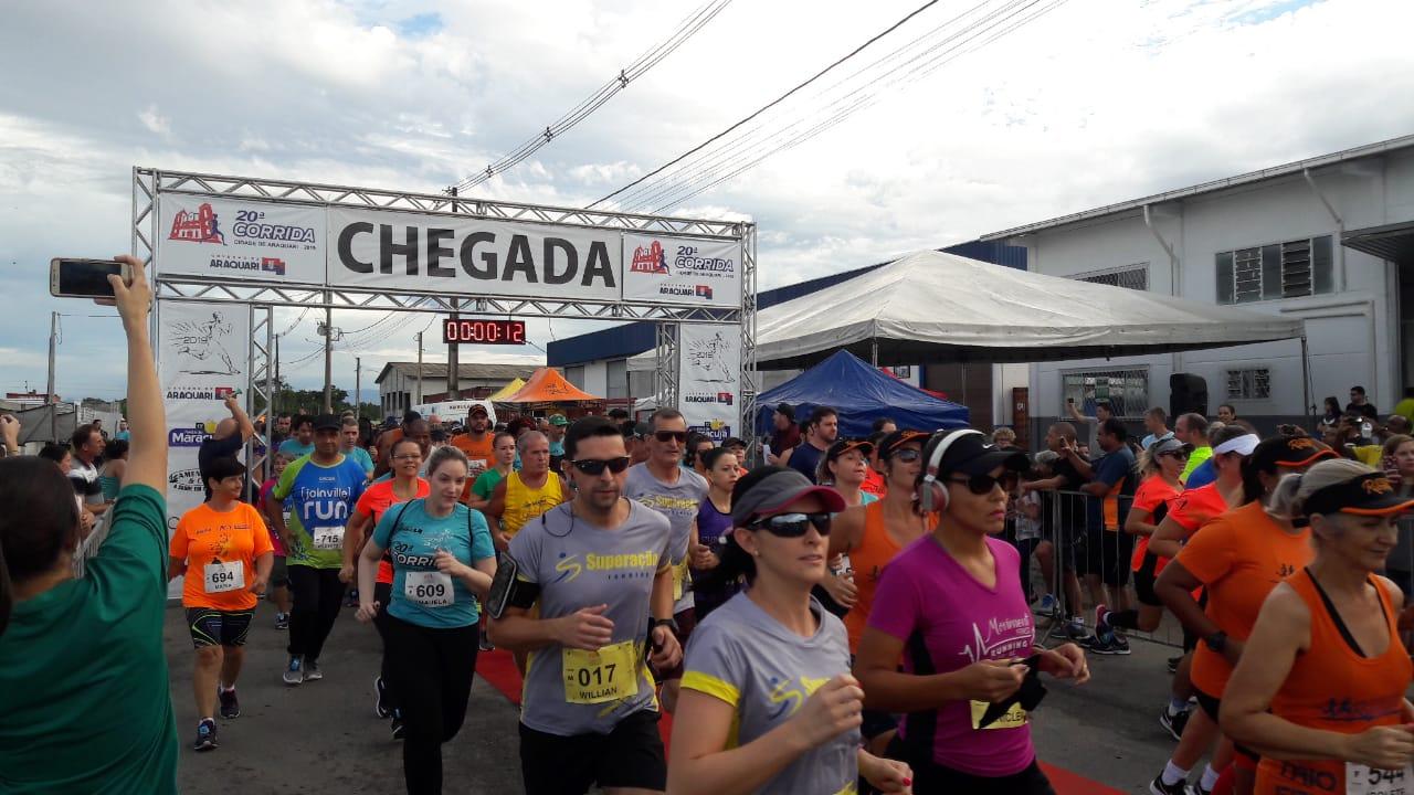 Corrida Cidade de Araquari bate recorde de inscritos