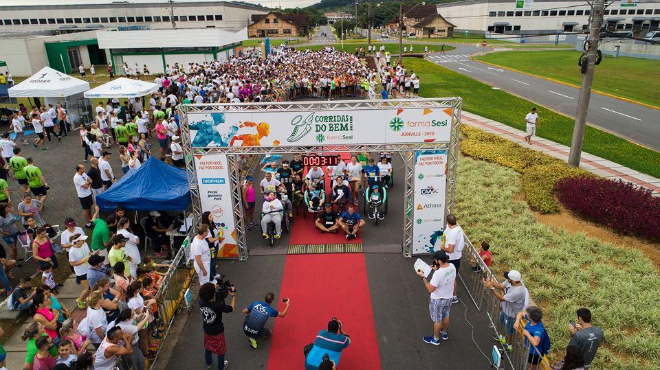 Inscrições para a Corrida do Bem FarmaSESI Joinville terminam nesta terça (30)