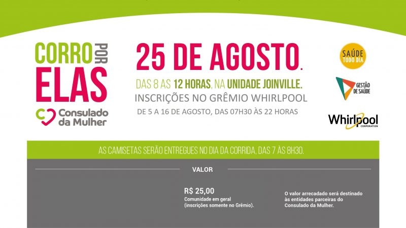 Joinville recebe mais uma edição do  Corro por elas
