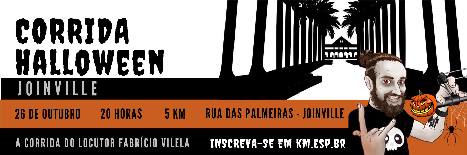 Últimos dias de inscrição para a Corrida Halloween Joinville