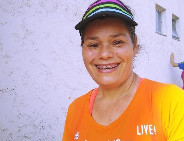 A doméstica Roseli Lunarte conseguiu vencer a depressão e perdeu 32 kg com as corridas